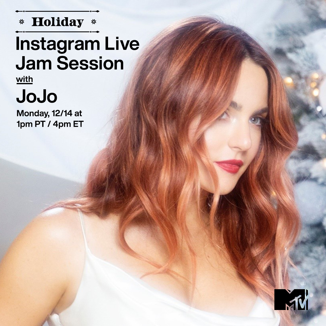Replying to @MTV: 'TIS THE SEASON for an epic holiday #MTVJamSession with @iamjojo today! Head to our IG Live at 1p PT / 4p ET to jam with JoJo. ✨🎄