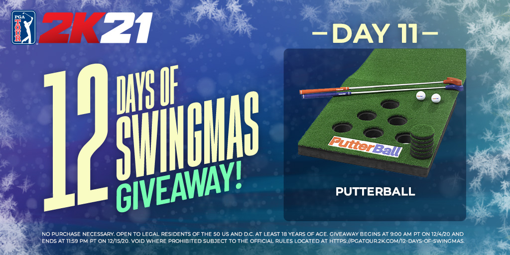 You'll have a jingle ball with this one!🔔   No kidding, try your shot at winning this Putterball set!     RETWEET with #12DaysOfSwingmas & #giveaway & make sure you FOLLOW @PGATOUR2K to enter.   Rules: