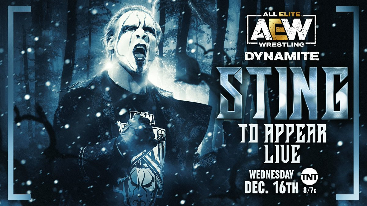 Sting Officially Announced For AEW Dynamite