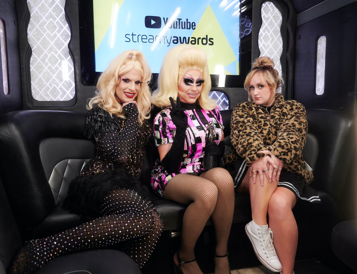 The three best friends anyone could have! 💛 @katya_zamo @trixiemattel @brittany_broski  You can watch and re-watch the #streamys at .