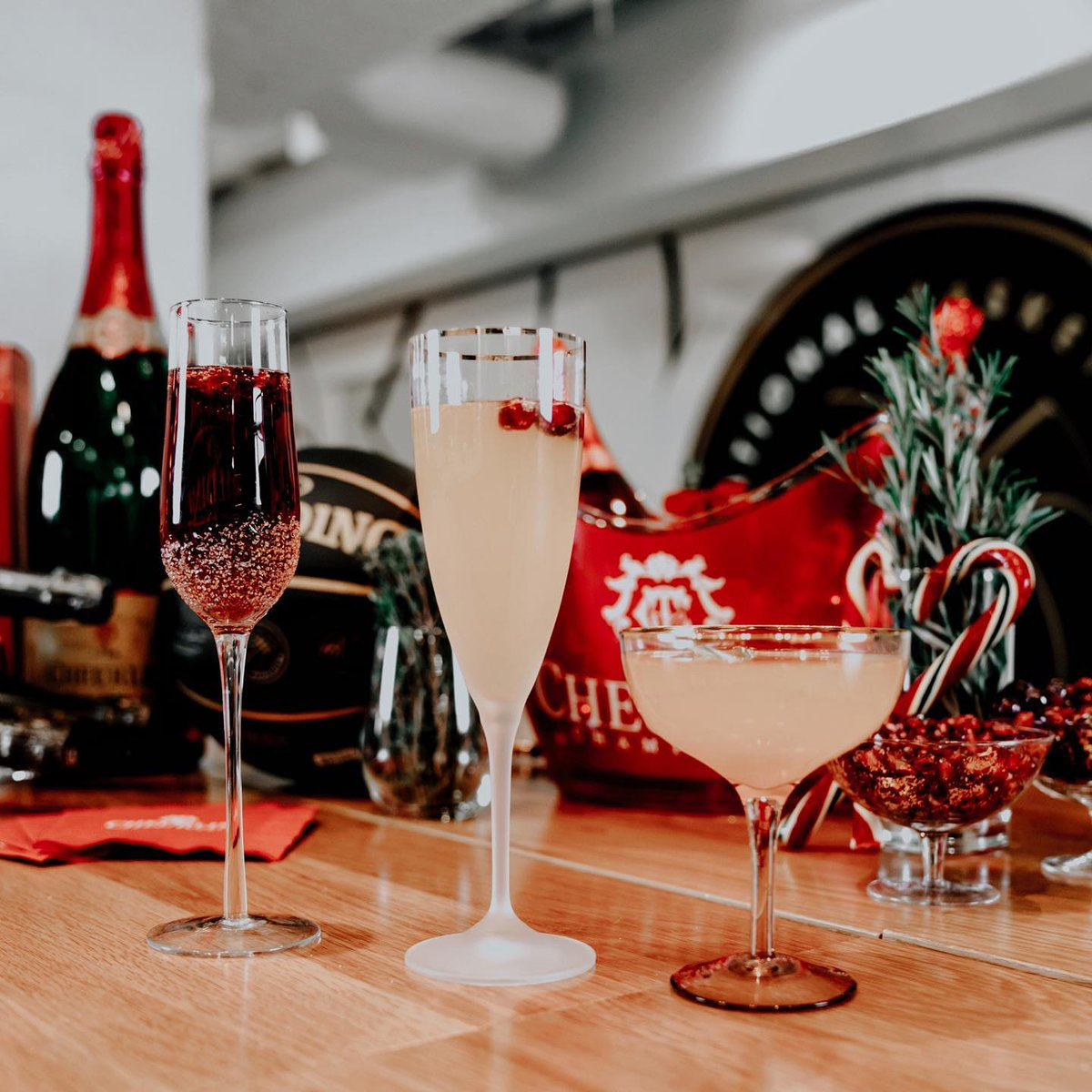 Getting in the holiday spirit with some #Cheurlin1788 cocktails! #HappyHolidays 😊🍾