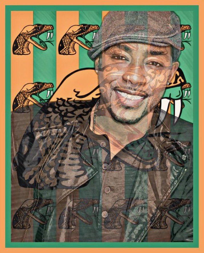 Thanks @BBBPACK @BBPAC #BBArt My @FAMU_1887 Fam know I bleed orange & green 🐍 🐍 🐍