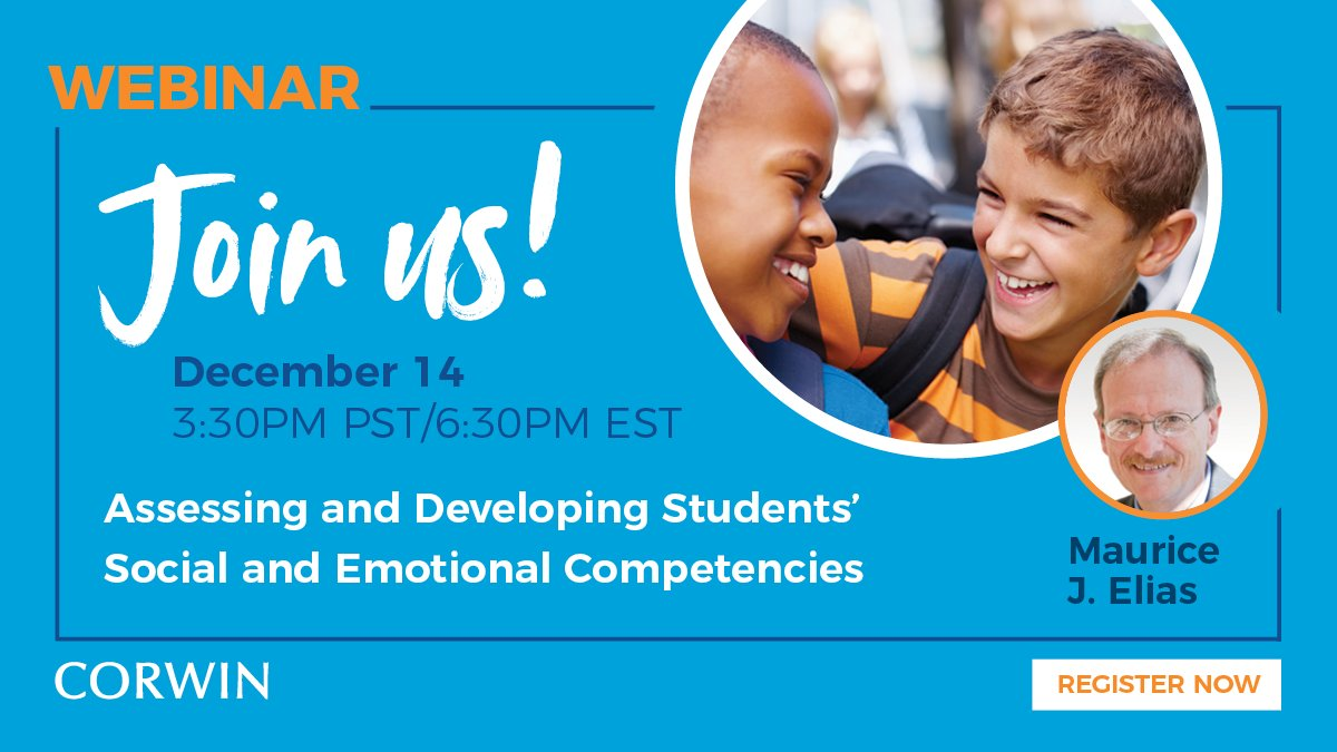 Our webinar with Maurice Elias is starting in one hour! ow.ly/bYHP50CAZl2