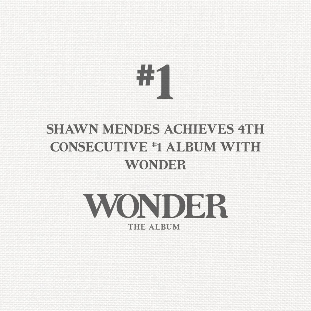 Congratulations @ShawnMendes & thank you to the best fans! #WONDER