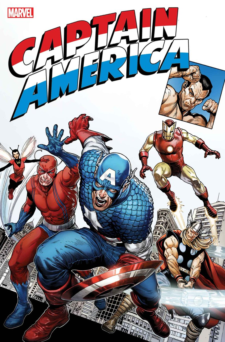 """Celebrate 80 years of Captain America with a giant-sized tribute issue inspired by the Super-Soldier's first appearance in """"Captain America Comics"""" #1 and his return in """"Avengers"""" #4:"""