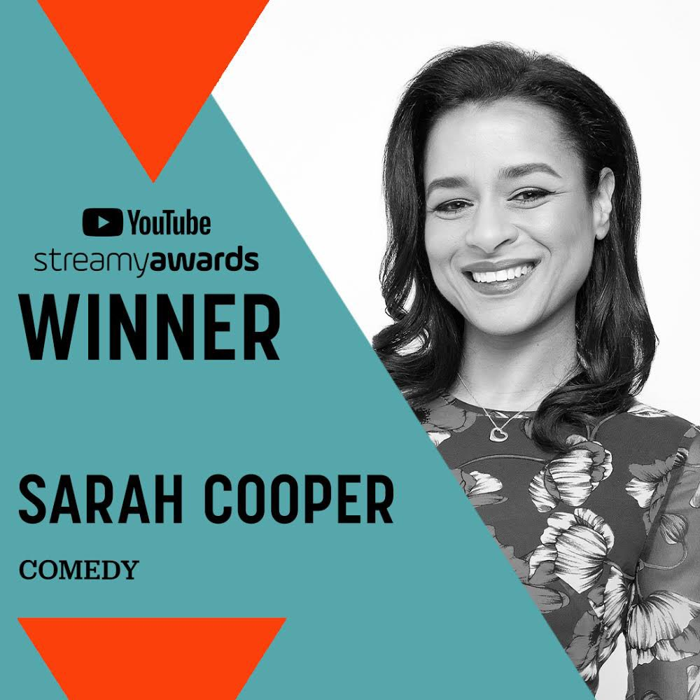 I share this award with donald j trump, who was a terrible president but a truly gifted comedy writer @streamys #streamyawards