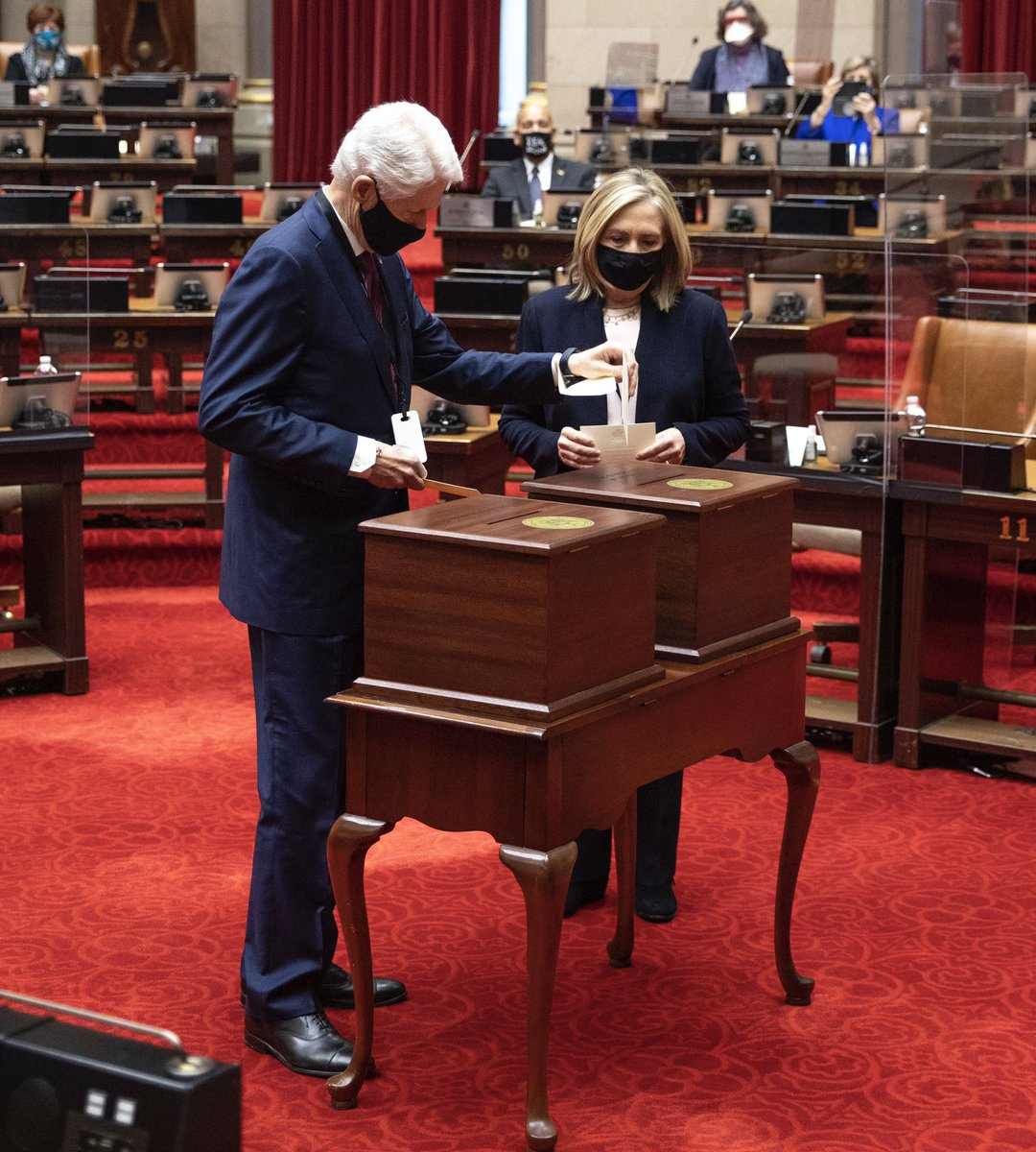 What an honor to cast one of New York's 29 electoral votes in Albany today for President-elect Biden and Vice President-elect Harris.