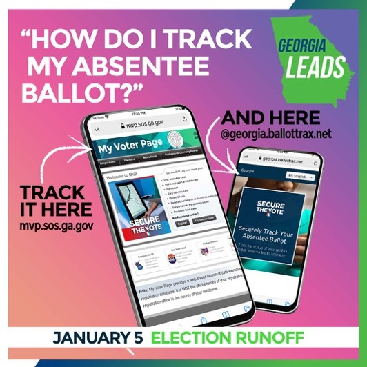 Did you request an absentee ballot? Track yours by visiting . #GaPol #SecureVoteGa