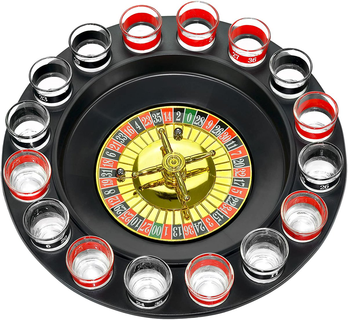 🥃 -Shot Glass Roulette Complete Set drinking game, 16PCS, Red/Black $19.99  *Drink Responsibly*    #giftideas #deals #Amazon #AmazonPrime #GiftIdeas2020