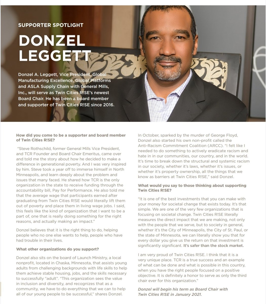 Read about our new Board Chair Donzel Leggett in the Fall/Winter Newsletter.  🔗
