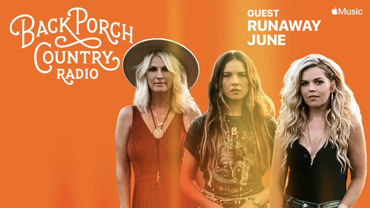Pumped to have @runawayjune on the porch with me this week, hang w/us on Back Porch Country radio @AppleMusic M-Th 8p (CT)  #countrymusic #backporchcountry #runawayjune