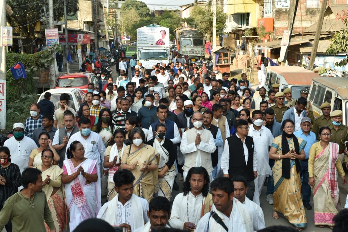 Grateful to the people who have joined the #ShantiSadbhavanaYatra on Day 4 and 5 in Sivasagar, Moran, Teok, Moriani and Golaghat.