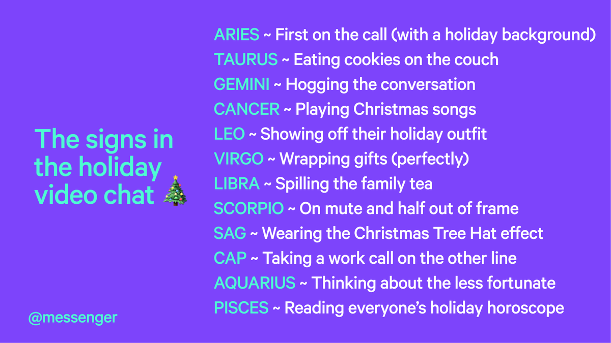 Feeling like a Cancer. Acting like a Scorpio. You know the holiday #vibe.