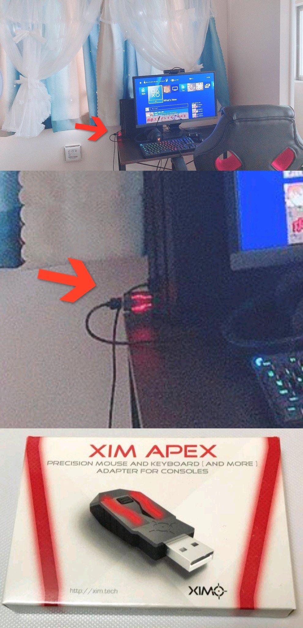 画像,【APEX】女性プレイヤーさん、モロにコンバーターが映り込んだ写真をupしてしまうも、「Twitterアカウントを乗っ取られた」という古典的な手法で言い逃れを試…