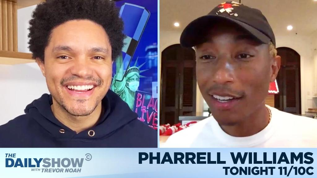 TONIGHT: @Pharrell is here to talk about helping entrepreneurs of color through Black Ambition, his podcast OTHERtone, and more!