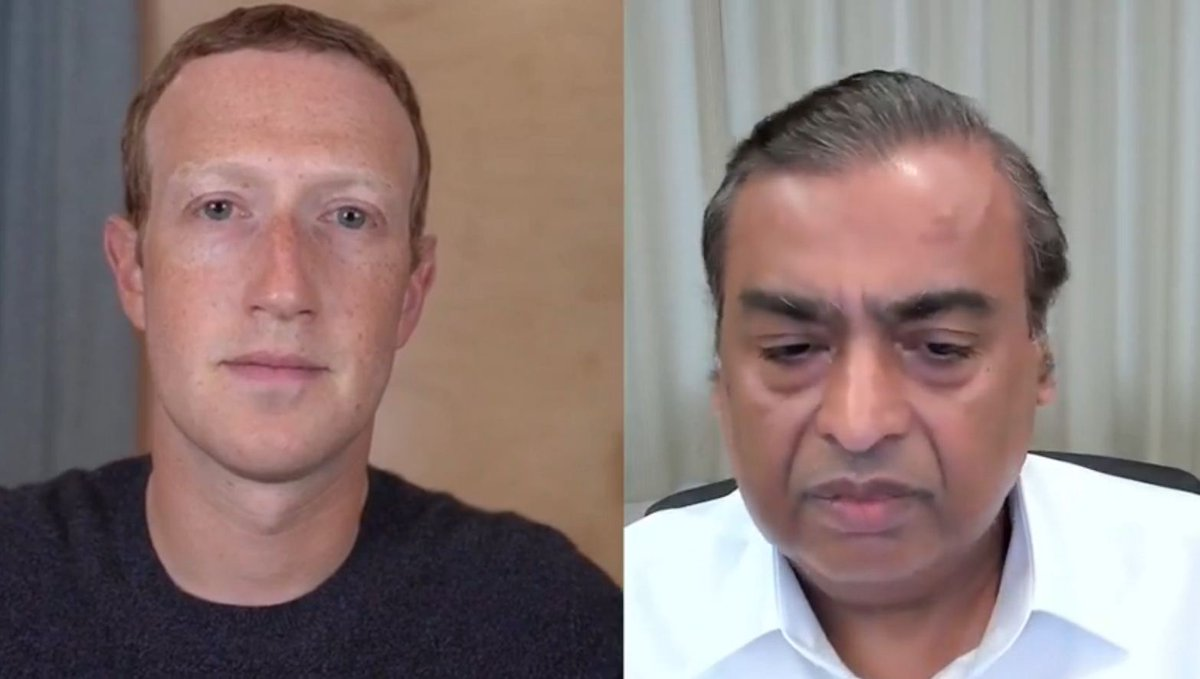 Mark Zuckerberg and Mukesh Dhirubhai Ambani converse at Facebook Fuel for India virtual event