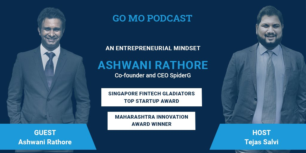 This week's #podcast featured Tejas Salvi who hosted an insightful Q&A session with Ashwani Rathore, co-founder and CEO of a Pune based startup - SpiderG. Ashwani discussed insight into the entrepreneurial mindset. #lifeatGOMO #GOMOPodcast https://t.co/UzM2RvKYc5