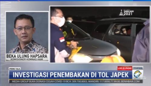 #PrimeTalkMetroTV Beka Ulung Hapsara (Komisioner Komnas HAM): kami sudah meminta keterangan dari FPI, Jasamarga, saksi-saksi, dan kepolisian. Saya kira dalam waktu yang tidak lama kami bisa mengambil kesimpulan awal dan diumumkan ke publik. Streaming: