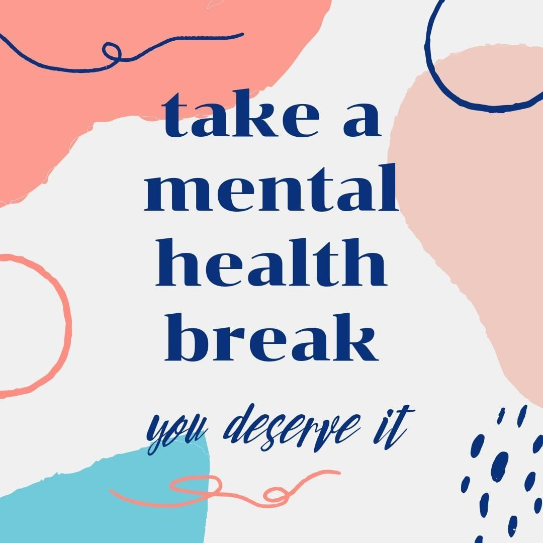How do you take time for your mental health? Whether it's a few deep breaths, or a short walk outside, it's so important to take care of yourself, even when things are hard.