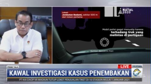 #PrimeTalkMetroTV Brigjen pol Andi Rian (Bareskrim Polri): mobil yang pertama menabrak lalu langsung melarikan diri, yang satu langsung memotong di depan. Dari mobil yang memotong keluar 4 orang yang masing-masing bersenjata tajam. Streaming: