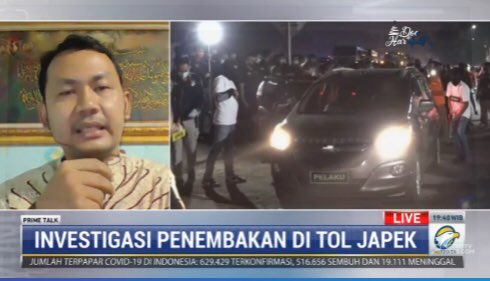 #PrimeTalkMetroTV Ridlwan Habib (pengamat intelijen): pengawal Habib Rizieq itu adalah tim, artinya mereka bukan berangkat atas inisiatif pribadi, mereka adalah bagian dari organisasi FPI. Artinya bisa didengar keterangan dari 3 mobil apakah saat berangkat mereka dibekali senjata