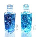 四季× 瓶。ハーバリウムのイラストがとっても素敵。