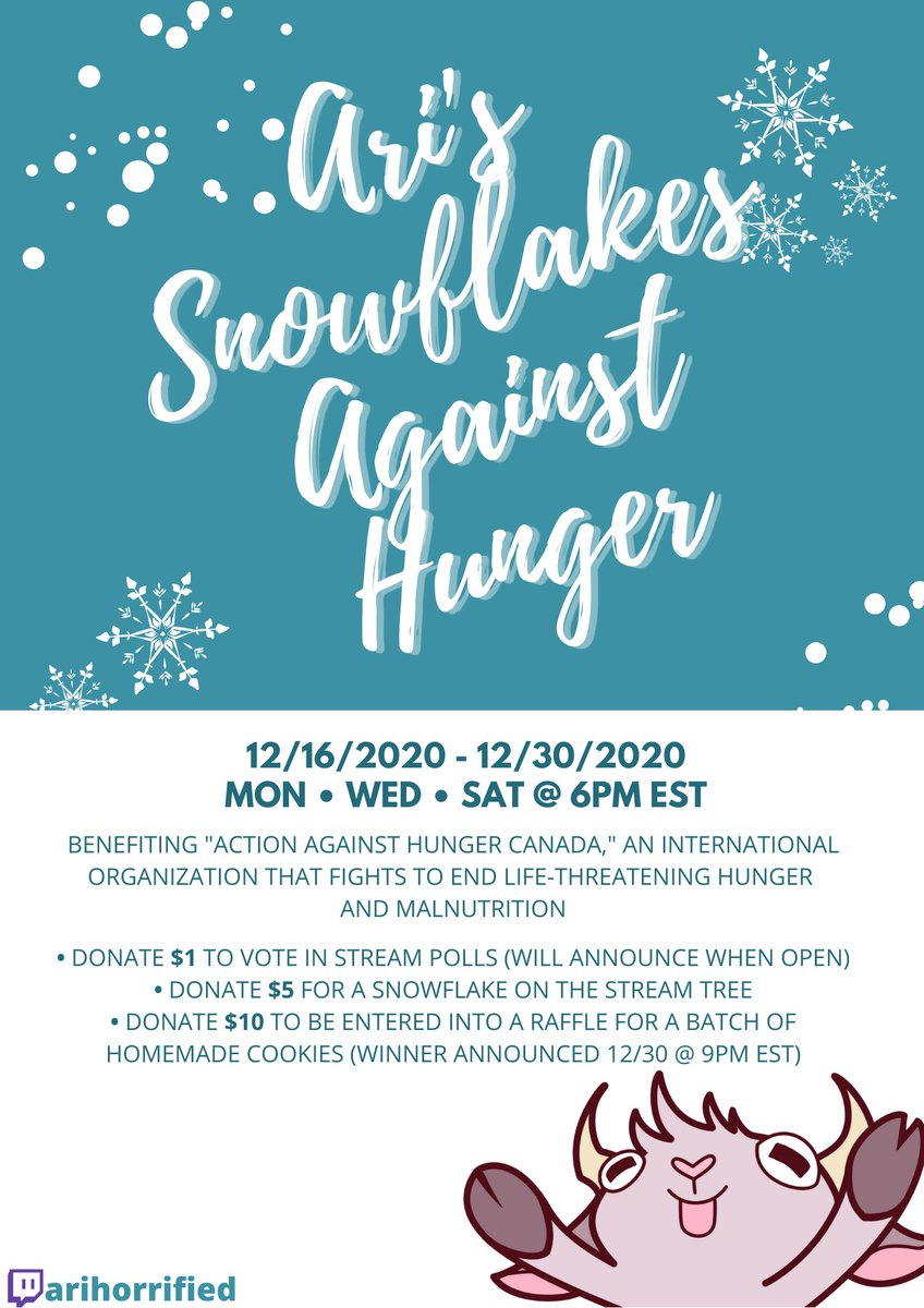 Here's the invite to our charity event, benefiting #ActionAgainstHunger!  From 12/16 to 12/30, please join in to support a good cause this Givingmas ❤️🎅🎄❄️