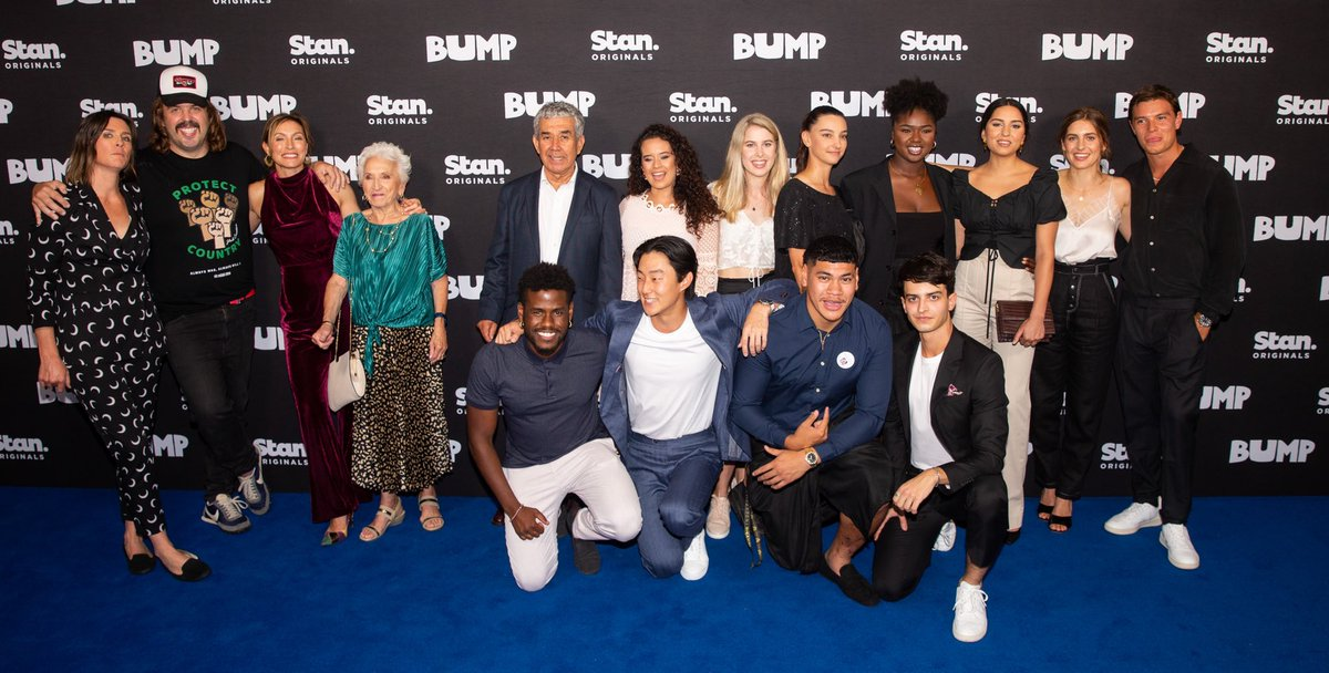 Look who we bumped into! The stars of the Stan Original Series, Bump are on the blue carpet tonight ahead of the series launch on New Year's Day.  Watch every episode, only on Stan. #StanOriginals