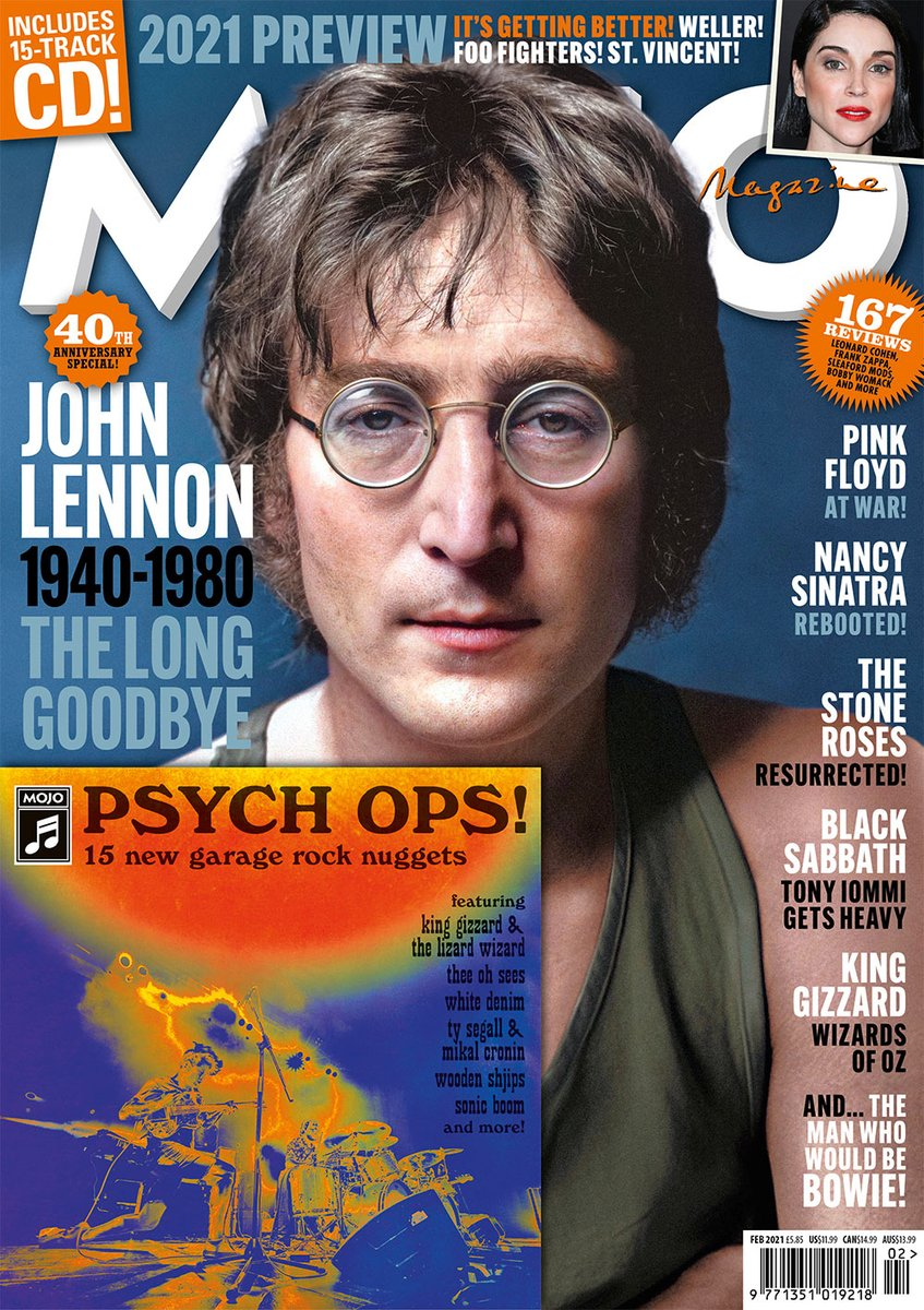 The new @MOJOmagazine is out now. @johnlennon, @pinkfloyd, @NancySinatra, @tonyiommi, @kinggizzard and our complete 2021 preview with @st_vincent, @paulwellerHQ, @foofighters and more. In UK shops - or order a copy direct from us now: https://t.co/54B05FtBma https://t.co/GtQu6niIdJ