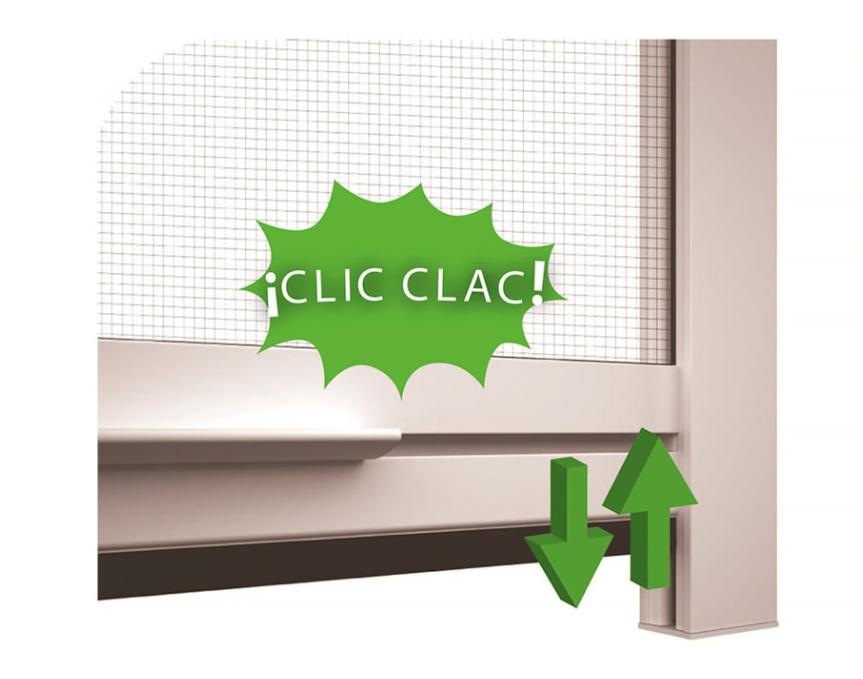 Nuestras #mosquiteras enrollables Elite disponen del sistema de cierre patentado clic clac, permitiendo abrir y cerrar la mosquitera fácilmente. https://t.co/dXIgnugaPG https://t.co/1JKnuZjPry
