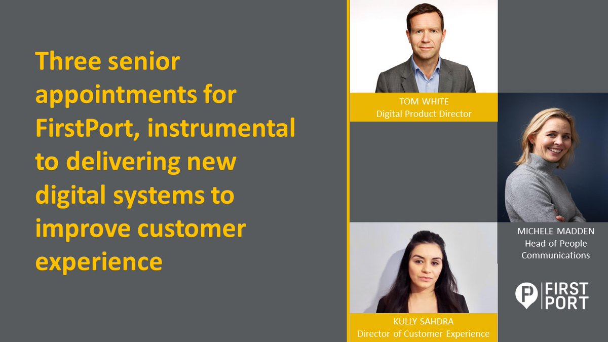 Welcome to our three new colleagues, who will play an integral role in delivering our customer-focused digital programme  #FirstPortPeople