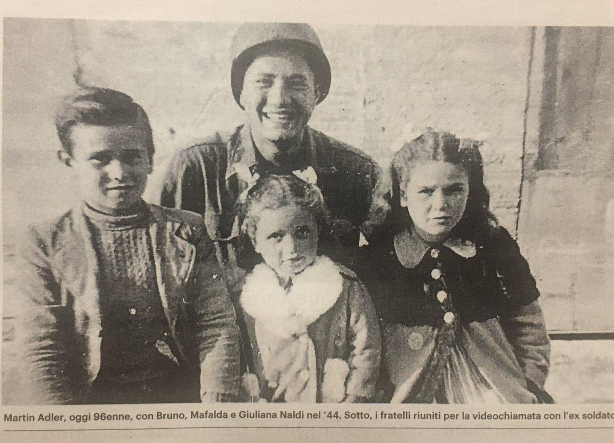 """antonella ciuti on Twitter: """"""""Siamo noi i tre fratellini della fotografia"""" Dopo 76 anni, il soldato USA Martin Adler, 96 anni, ritrova i fratelli salvati nel '44 Una videochiamata per ricordare e"""