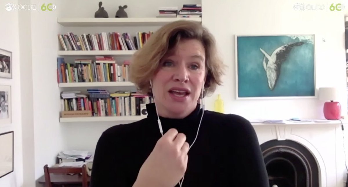 """""""This should be a people's vaccine. Patents should be weak, data should be widely available, and manufacturers everywhere should be able to distribute it without artificial scarcity"""" - @ucl Professor @MazzucatoM discusses the need for an accessible #COVID19 vaccine at #OECD60 https://t.co/CUcb77HO5x"""