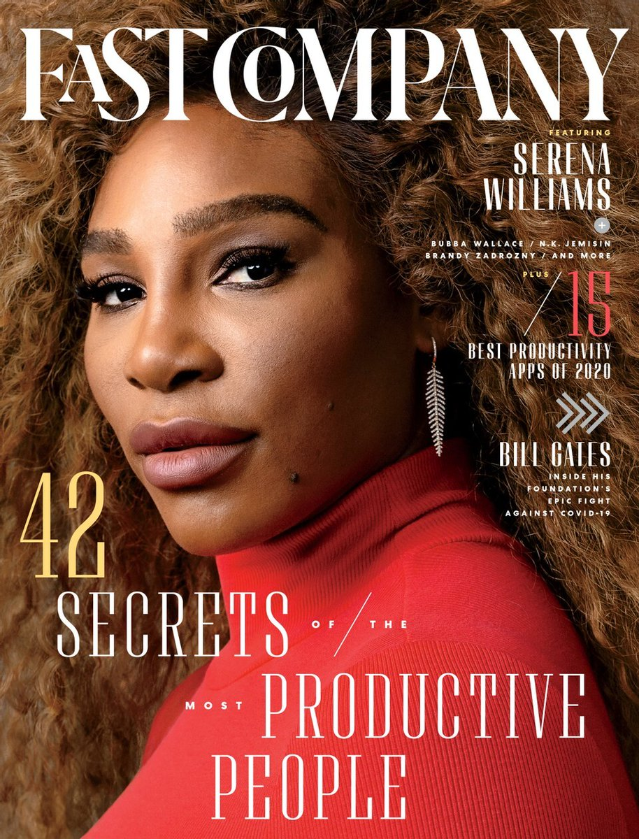 Whether she's on or off the court, @serenawilliams works tirelessly to keep her career in play. Headlining our 2020 #FCMostProductive People list, she shares how she balances time between her family, her businesses, and her sport.