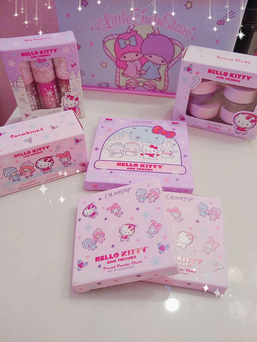So glad I was able to snag the @ColourPopCo Hello Kitty & Friends collection! 💕 They are SO cute and I can't wait to try them out!  . . . #colourpop #hellokittyxcolourpop