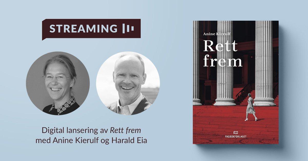 Vi er på! Se @anineki og Harald Eia i samtale om den nye boken «Rett frem» kl 19: https://t.co/vg2nWowRyI https://t.co/CG8lmzSJjg