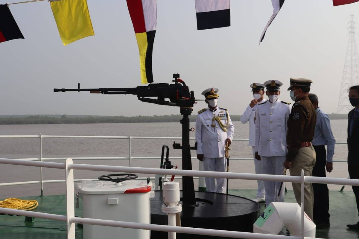 Indigenously built interceptor boat of Indian Coast Guard commissioned at Hazira