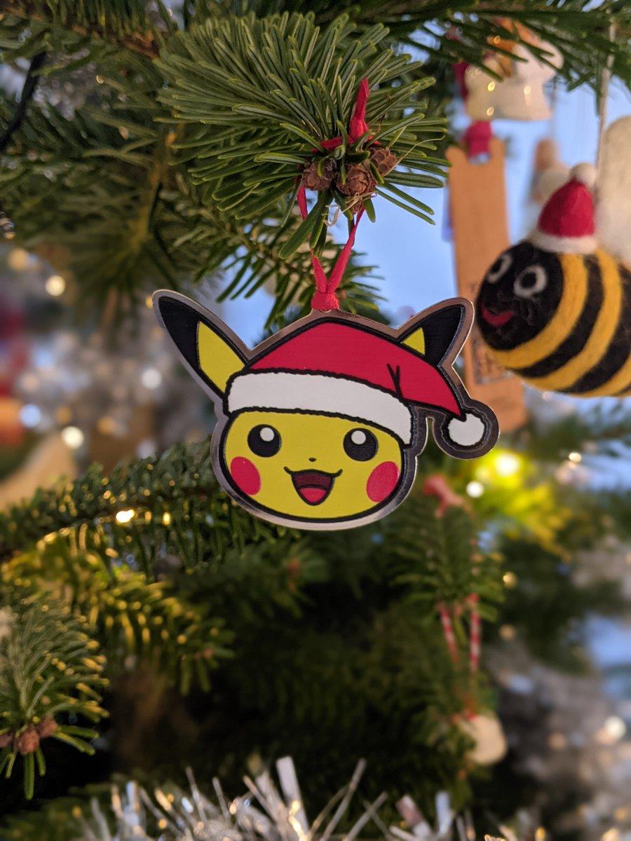 It's Christmas time, so it's up on the tree you go Pikachu! Merry Christmas Folks! #Pikachu #christmas #christmastree #pokemon #pokemoncenter #pokemontcg #PokemonGO