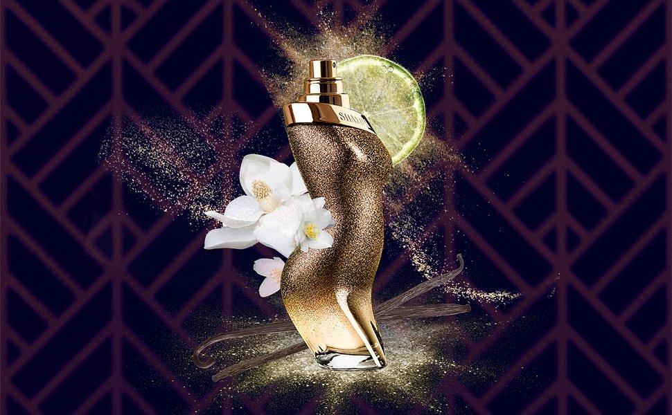 El frasco captura en un instante el movimiento de cadera icónico de  Shakira.En esta nueva versión, las curvas están todavía más marcadas y dotan al perfume de aún más sensualidad.Un juego de luces negras y purpurina dorada para un perfume con personalidad única #ShakiraPerfumes