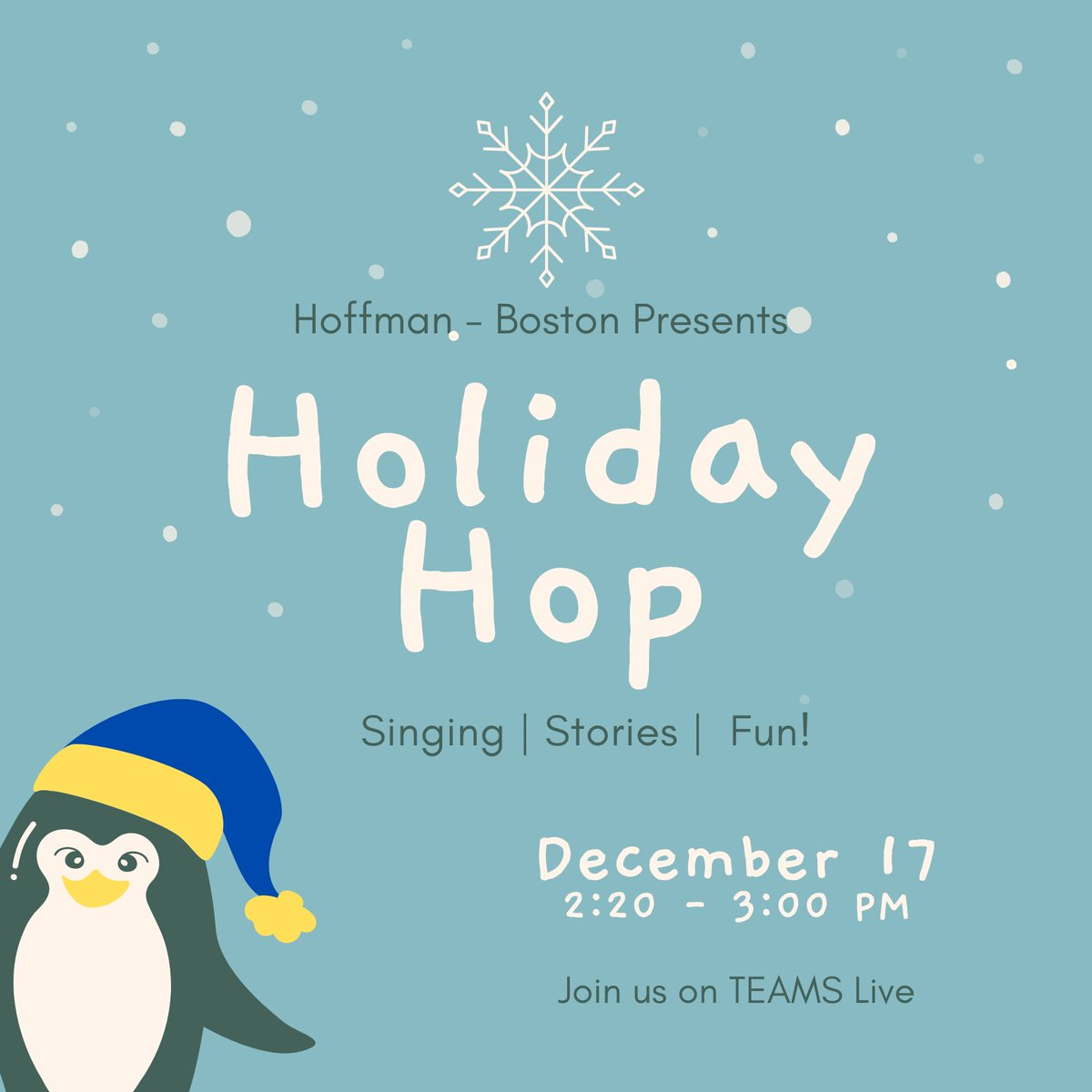 RT <a target='_blank' href='http://twitter.com/ProjEdisonHFB'>@ProjEdisonHFB</a>: The Holiday Hop is coming!!! Be sure to join us this Thursday! <a target='_blank' href='http://twitter.com/MusicHFB'>@MusicHFB</a> <a target='_blank' href='http://twitter.com/HFBpe'>@HFBpe</a> <a target='_blank' href='http://twitter.com/artHFB'>@artHFB</a> <a target='_blank' href='http://twitter.com/HFBSTEM'>@HFBSTEM</a> <a target='_blank' href='https://t.co/twJLgu6Ap2'>https://t.co/twJLgu6Ap2</a>