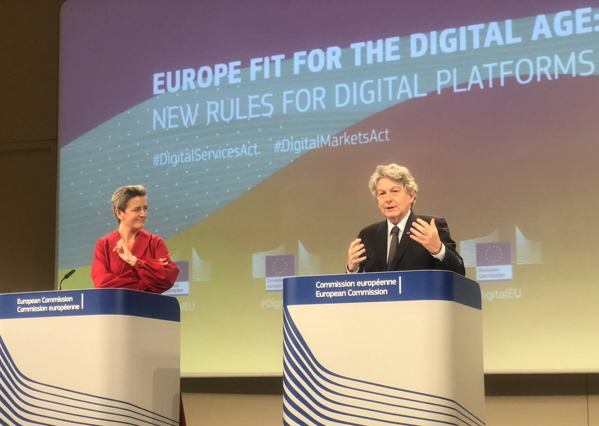 Regulating the digital space *for* and not against anyone or any company. For our 🇪🇺 citizens. For our democracy. For a fair market for our SMEs, companies of all sizes and entrepreneurs. ec.europa.eu/commission/pre…