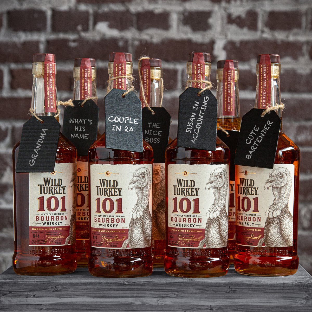 Don't know what to give this holiday season? It's always best to gift something that you'd want yourself. You know the 1...01. Wild Turkey® 101 Bourbon is aged longer for more character and makes a bold gift. #RealBourbonNoApologies  Shop @wildturkey →