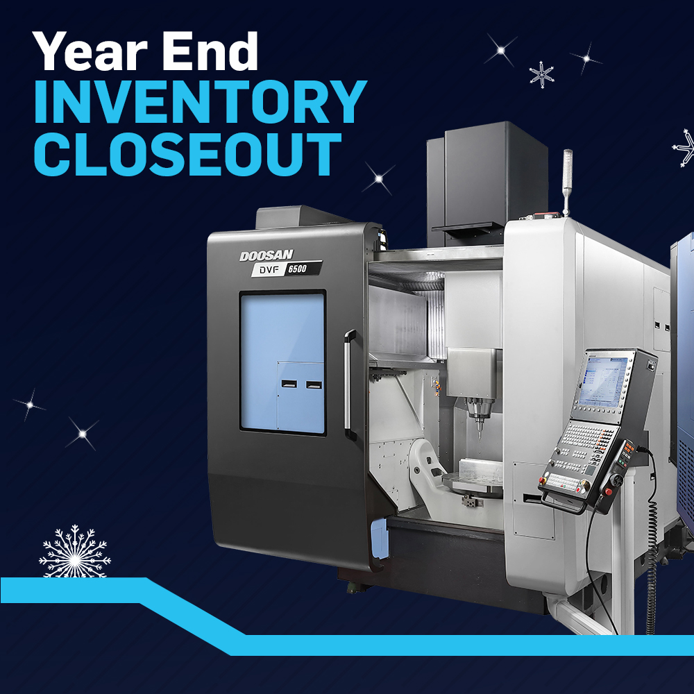Our Year End Inventory Closeout has begun! Shop over 20 in-stock models of horizontal, vertical, #5axis and #movingcolumn #machining centers, horizontal #turning centers, and #millturn machines. Don't forget your #Section179 tax benefits to save even more. https://t.co/vrq36AGqpr https://t.co/DZTb2GHdr5