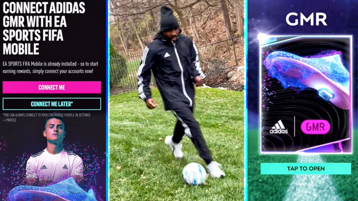Had the opportunity to try #adidasGMR to see how it synced with FIFA Mobile. Check out the vid over on YouTube 👇  ⚽️   @GoogleATAP @adidasfootball #Sponsored