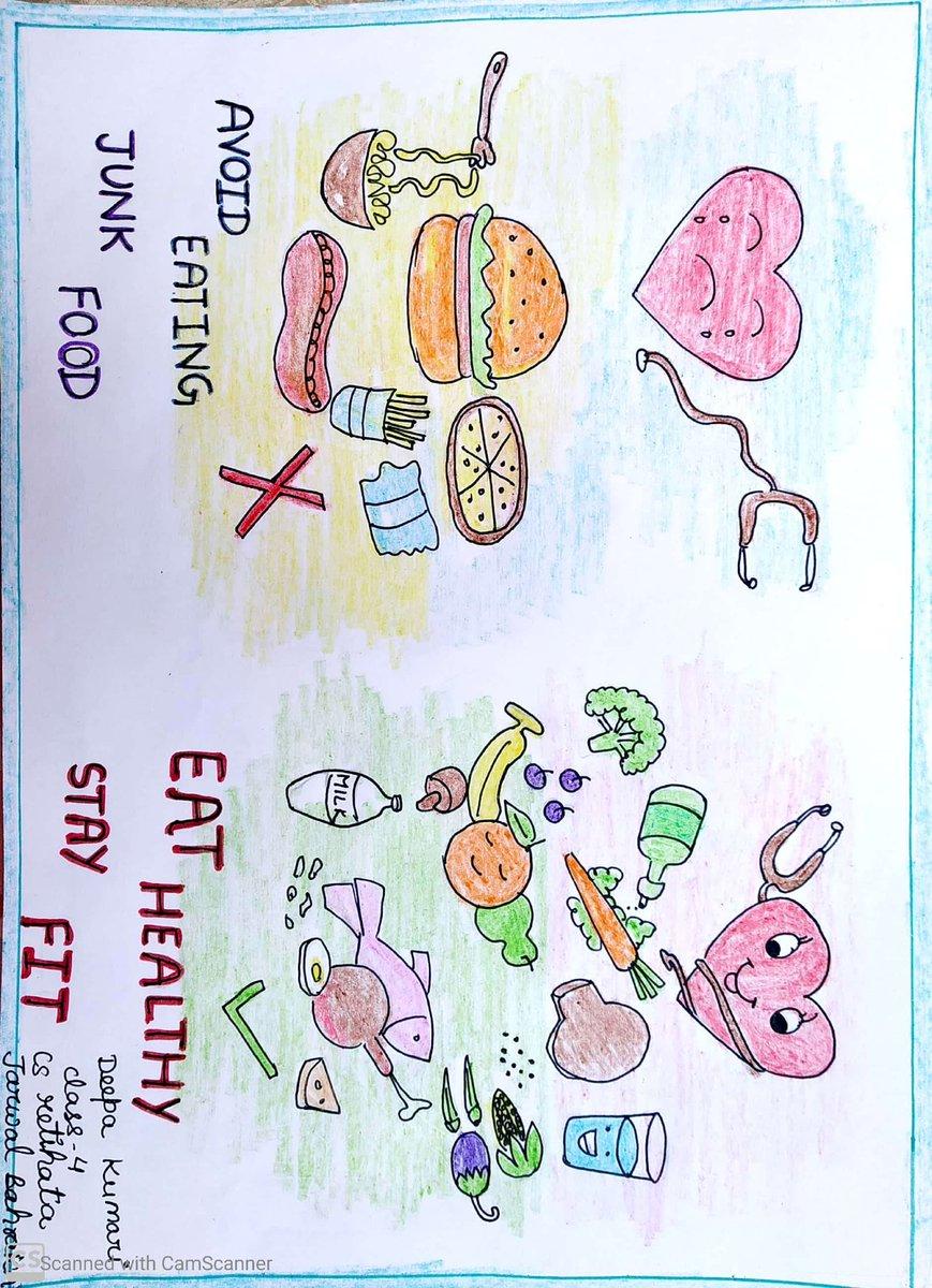 Eat rights stay fit #fssaigov #creativitychallenge #UPGovt #epathshala