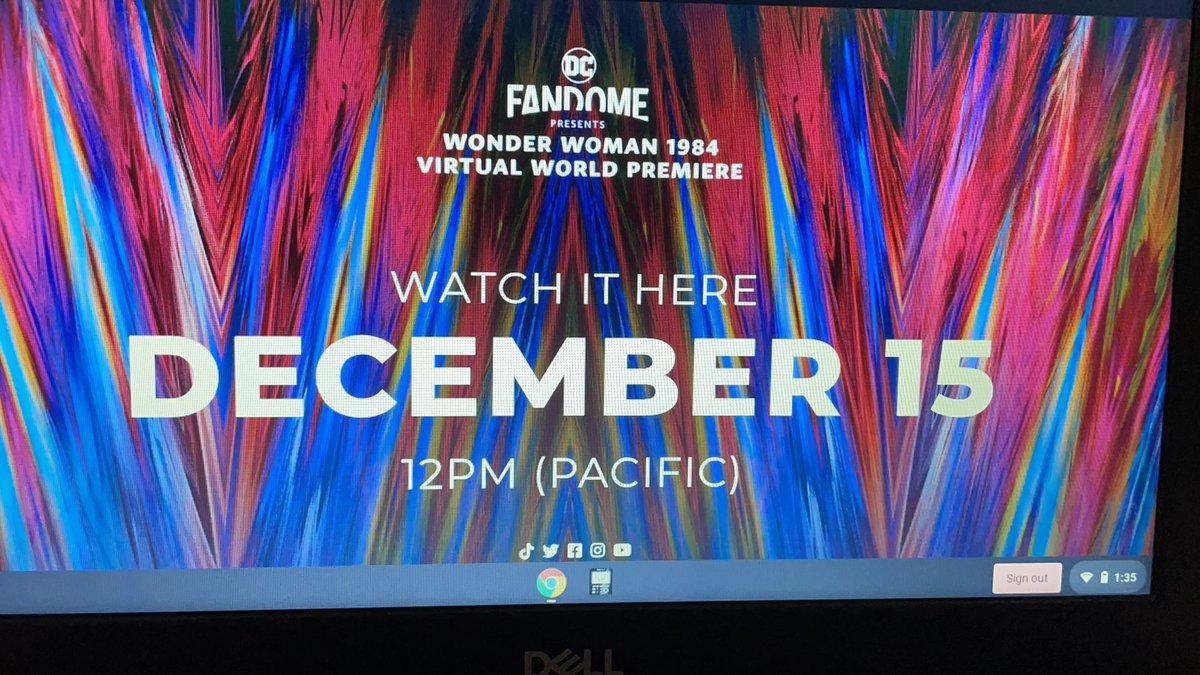 AHHHH it's Almost time!! #WonderWoman1984 #WonderWoman #WONDERTHEEXPERIENCE @GalGadot