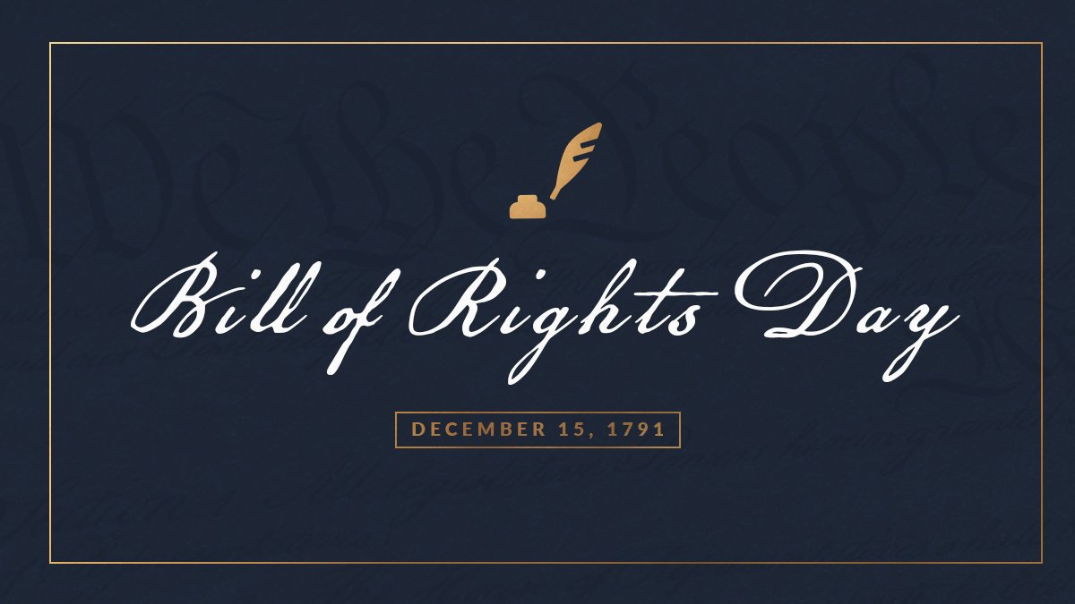 229 years ago today, the Bill of Rights was ratified. These ten amendments permanently enshrined liberty and justice as pillars of our government in the Constitution.