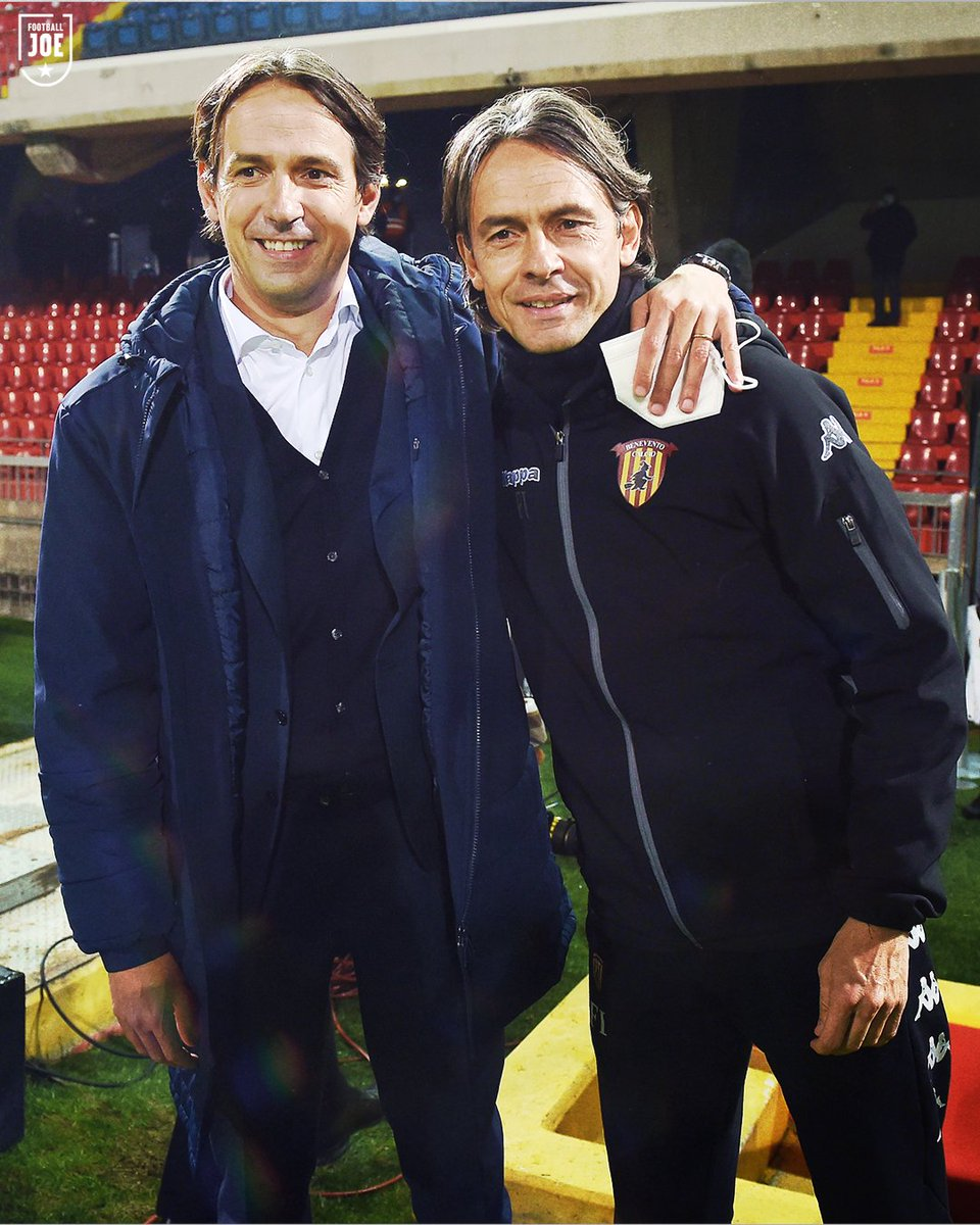 "FootballJOE on Twitter: ""The Inzaghi brothers face each other for the first  time in Serie A this evening as Pippo's Benevento host Simone's Lazio…  https://t.co/vHVqor6CUO"""