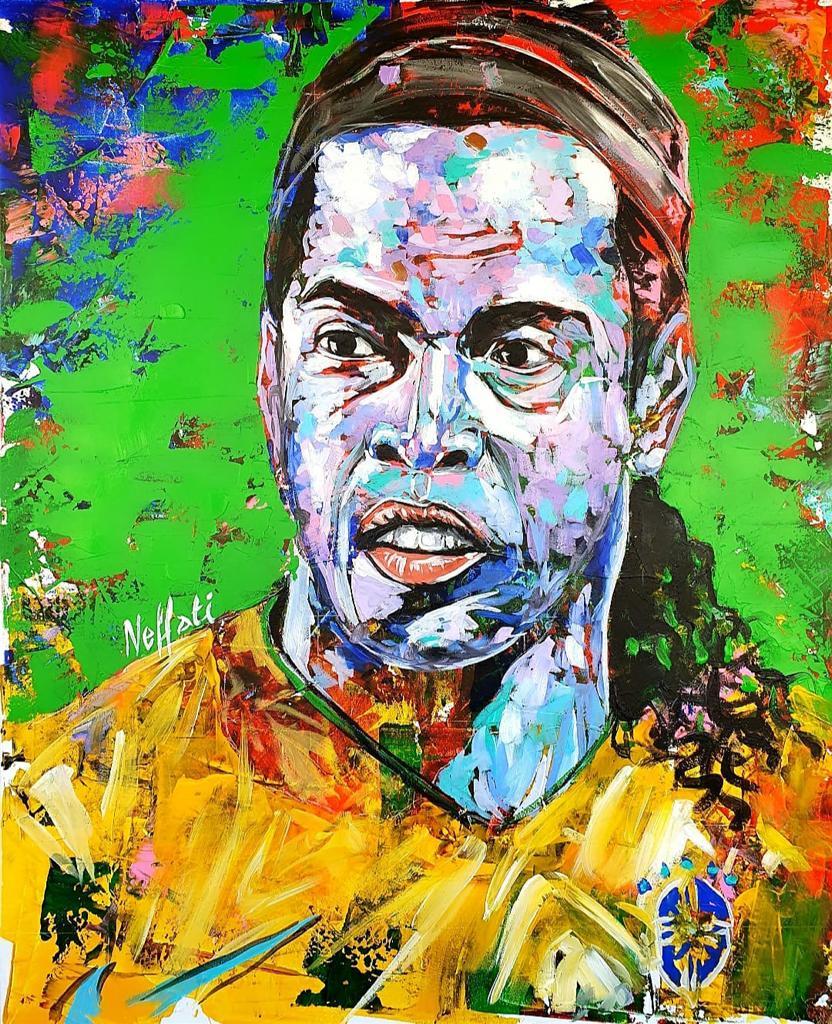 Obrigado pelo presente #K2 , maneiro demais!!! #neffati_artiste , parabéns pelo talento 🤙🏾 #RonaldinhoArt