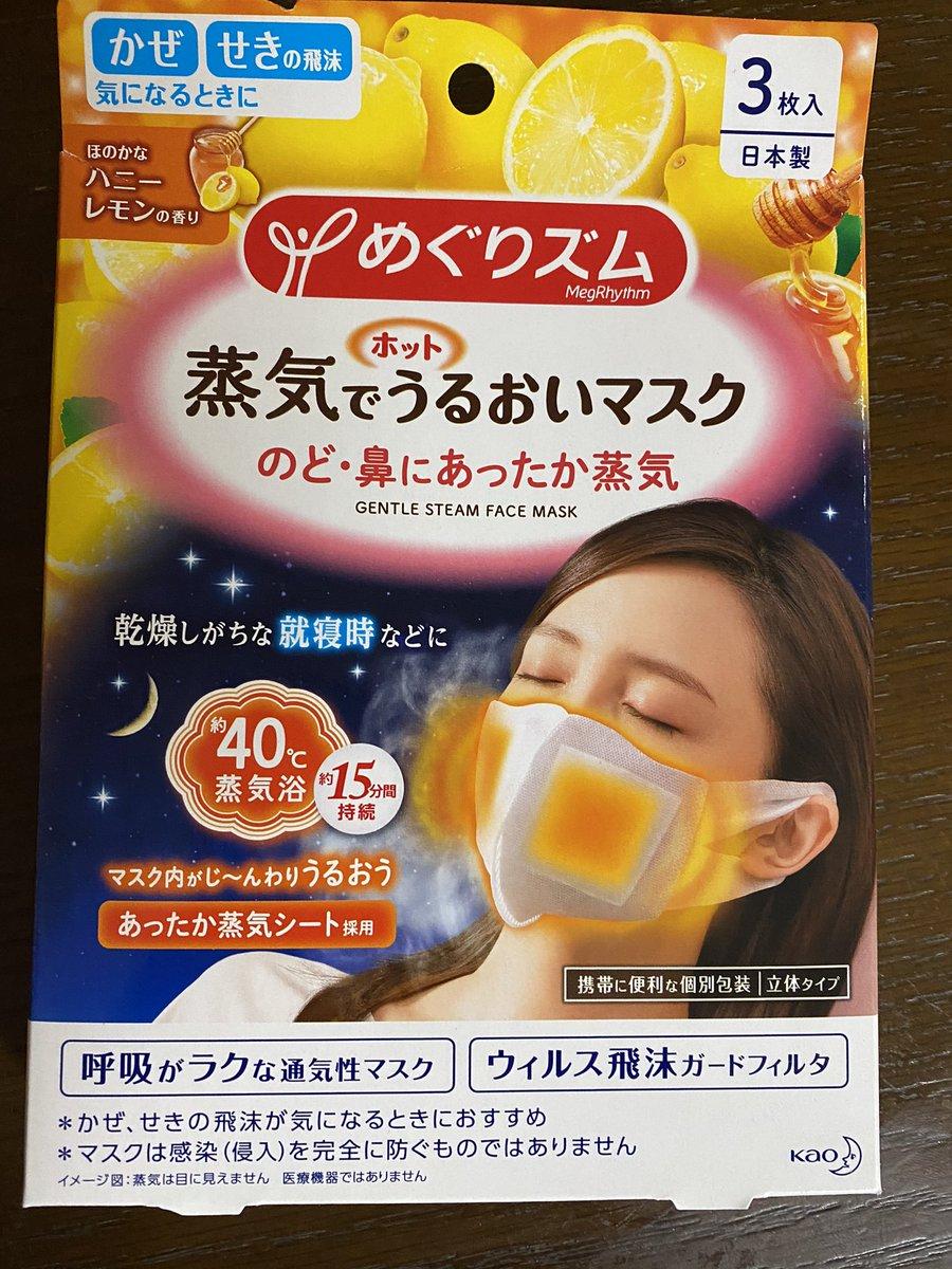 うるおい マスク ホット めぐり ズム 蒸気 で